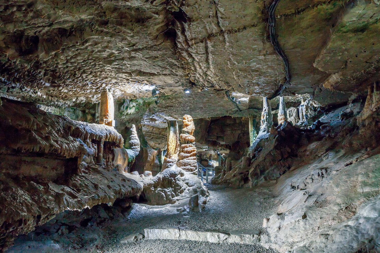 Hier gibt es die mächtigsten Stalagmiten Deutschlands: Erdmannshöhle Hasel (© Michael Trefzer)