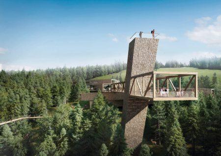 """Skywalk-Turm im Nationalpark Schwarzwald (© Sturm + Wartzeck GmbH, Dipperz (Architekten) und """"Vergnügen und Bau"""" (Bauherr))"""