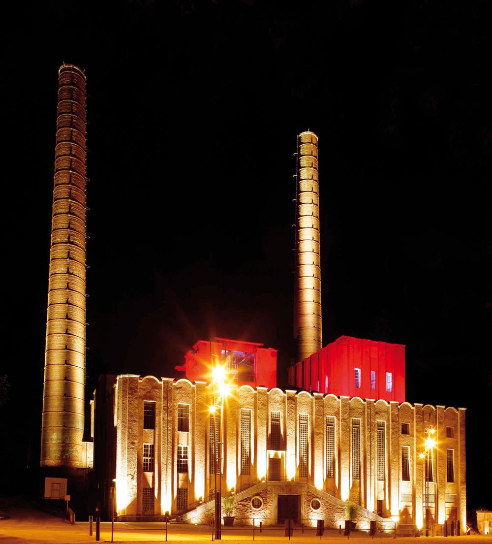 Das 1975 stillgelegte Kraftwerk Rottweil ist heute ein lebendiges Kultur- und Veranstaltungszentrum (© Tourist-Info Rottweil)