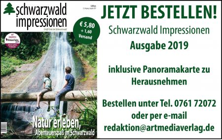 Schwarzwaldimpressionen 2019. Zu Bestellen telefonisch unter 0761 72072 oder per mail an redaktion-at-artmediaverlag.de